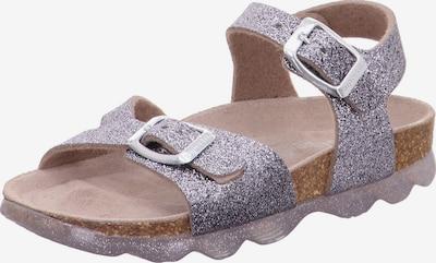 SUPERFIT Sandales en gris argenté / lilas, Vue avec produit