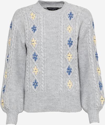 Dorothy Perkins Pullover in blau / pastellgelb / grau, Produktansicht