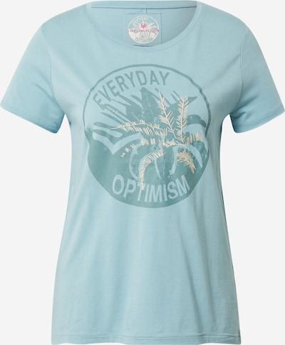 LIEBLINGSSTÜCK Тениска 'Cia' в кремаво / синьо / нефритено зелено, Преглед на продукта
