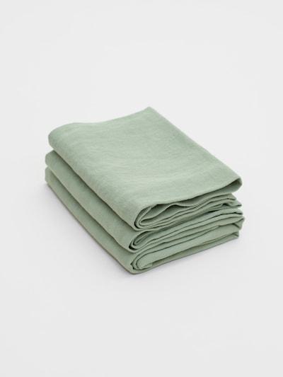 Erlich Textil Handdoek ' 3er-Pack Bente ' in de kleur Lichtgroen, Productweergave