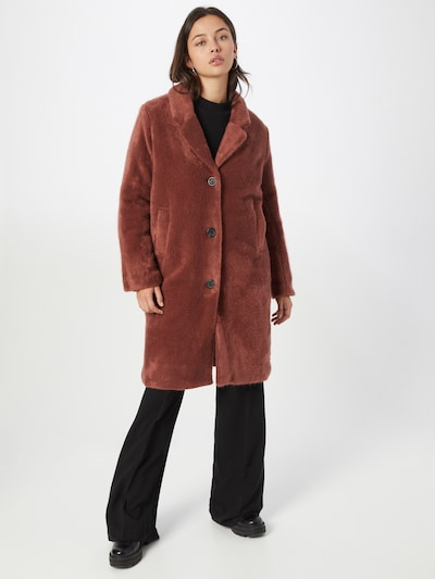 Le Temps Des Cerises Between-Seasons Coat in Red, View model