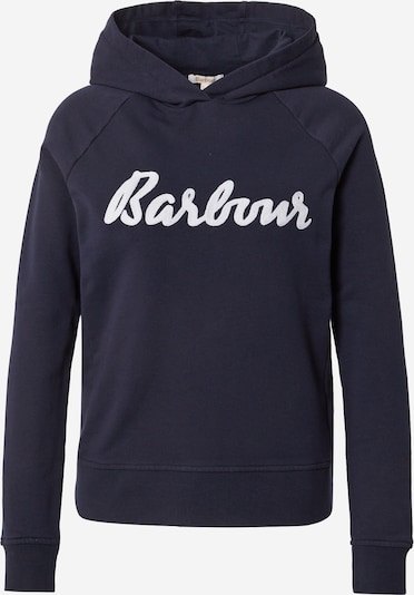 Barbour Sweat-shirt 'Otterburn' en bleu marine / blanc, Vue avec produit