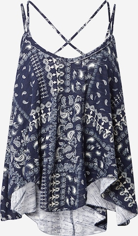 Free People Blouse 'HEY GIRL' in Blauw