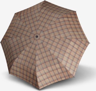 Doppler Taschenschirm 'Carbonsteel Mini' 25cm in hellbraun / dunkelbraun / rot / weiß, Produktansicht