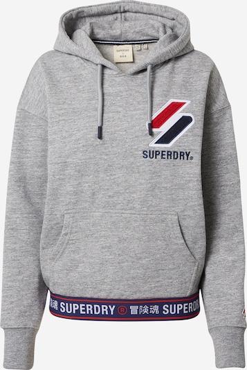 Superdry Sweatshirt  'Chenille' in marine / hellgrau / rot / weiß, Produktansicht