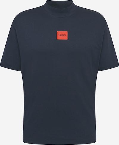 HUGO Shirt 'Dabagari' in dunkelblau / rot, Produktansicht