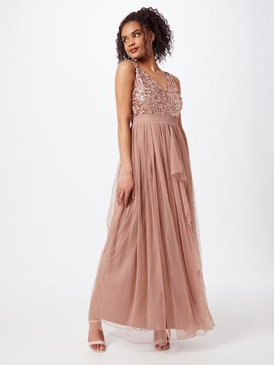 Sistaglam Společenské šaty 'YASMIN' - růžově zlatá / růže, Model/ka