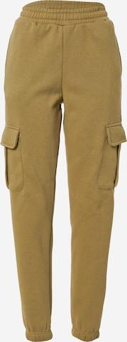 Urban Classics Klapptaskutega püksid, värv roheline