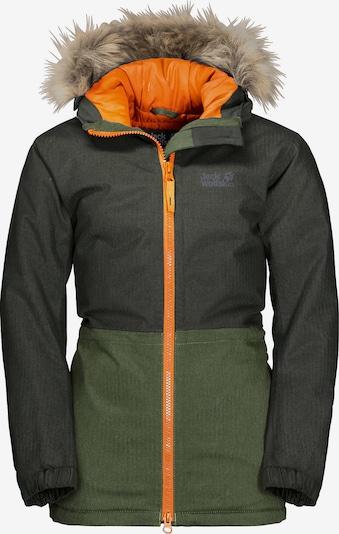 JACK WOLFSKIN Winterparka 'Bandai' in khaki / dunkelgrün, Produktansicht