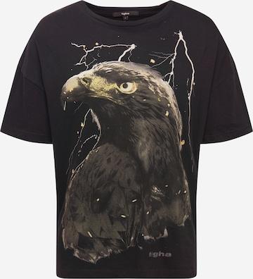 tigha Shirt 'Sky Eagle Arne' in Schwarz