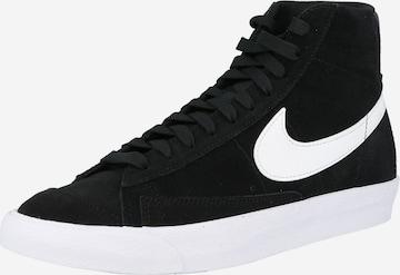 Baskets hautes 'Blazer 77' Nike Sportswear en noir