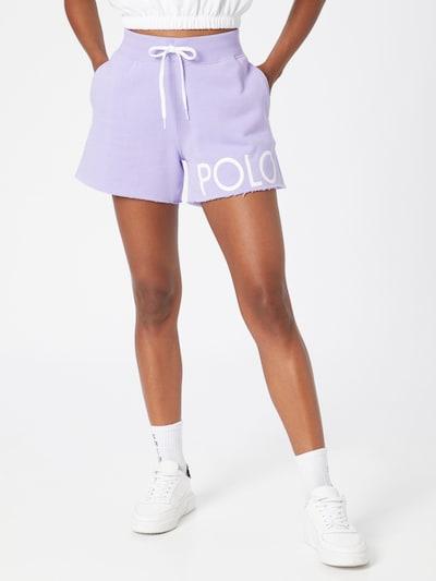 Polo Ralph Lauren Shorts in lavendel / weiß, Modelansicht
