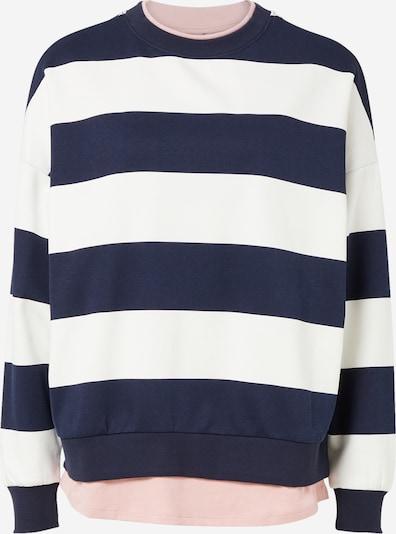EDC BY ESPRIT Sweatshirt in navy / rosa / weiß, Produktansicht