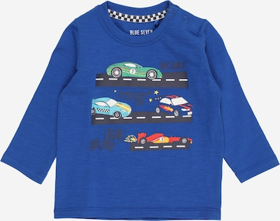 BLUE SEVEN Camiseta en azul real / mezcla de colores / naranja oscuro / negro / blanco, Vista del producto