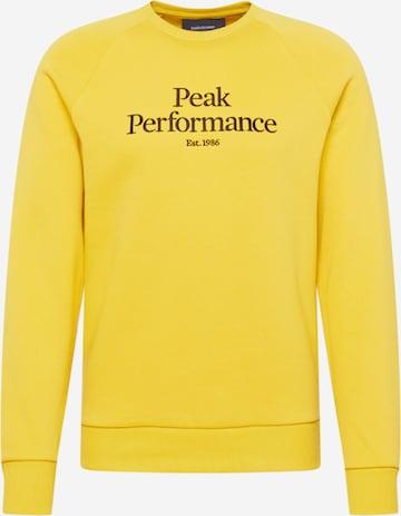 Sweat-shirt PEAK PERFORMANCE en jaune