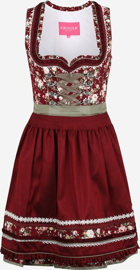 Krüger Madl Dirndl in mixed colours / bordeaux, Item view