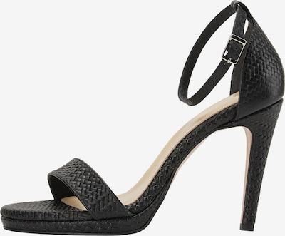 faina Sandalen met riem in de kleur Zwart, Productweergave