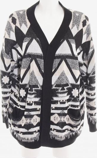 H&M Strick Cardigan in M in hellgrau / schwarz / weiß, Produktansicht