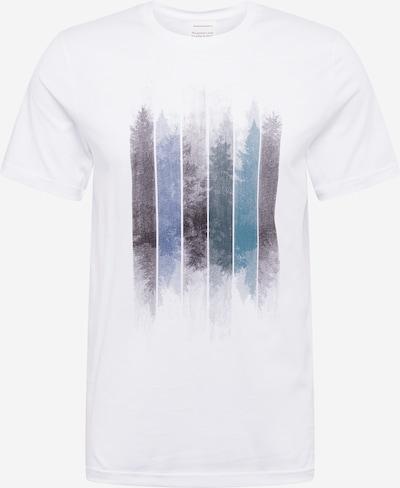 ARMEDANGELS T-Shirt 'JAAMES' in taubenblau / dunkelgrau / offwhite, Produktansicht
