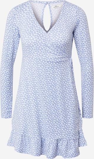 HOLLISTER Kleid in rauchblau / weiß, Produktansicht