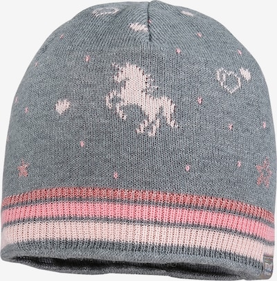 MAXIMO Beanie in Grey mottled / Pink / Light pink, Item view