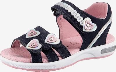 myToys-COLLECTION Sandale 'Emily' in dunkelblau / rosa / silber, Produktansicht