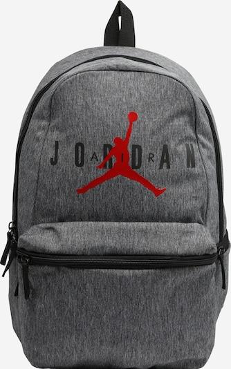 Jordan Rucksack 'JAN' in graumeliert / rot / schwarz, Produktansicht
