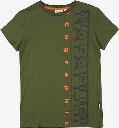 NAPAPIJRI Shirt 'SADYR' in dunkelblau / dunkelgrün / orange, Produktansicht