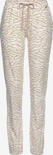 LASCANA Pyžamové nohavice - svetlohnedá / biela, Produkt
