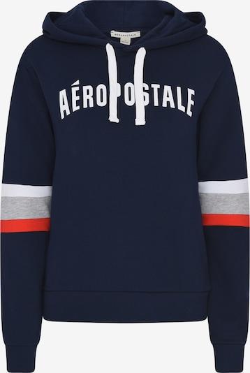 AÈROPOSTALE Sweater majica u mornarsko plava / siva / svijetlocrvena / bijela, Pregled proizvoda