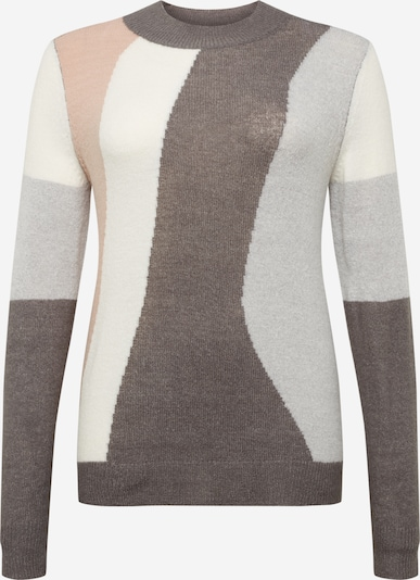 ONLY Carmakoma Sweater in nude / brown mottled / grey mottled / white, Item view