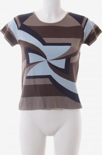 ODEON Strickshirt in S in blau / braun, Produktansicht