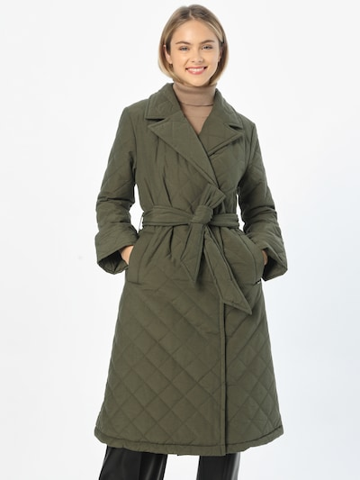 Demisezoninis paltas 'BYALIA' iš b.young, spalva – tamsiai žalia, Modelio vaizdas