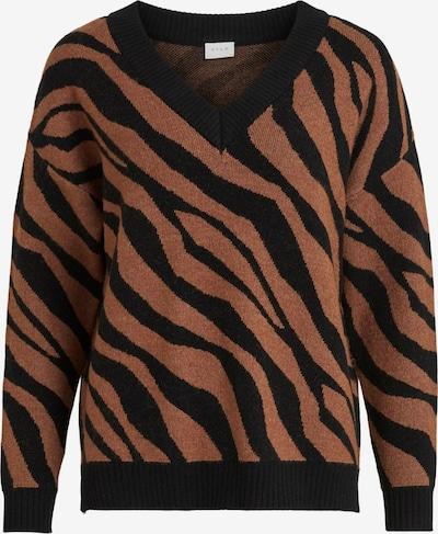 VILA Pullover in braun / schwarz, Produktansicht
