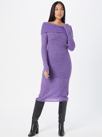 PATRIZIA PEPE Gebreide jurk in Lila