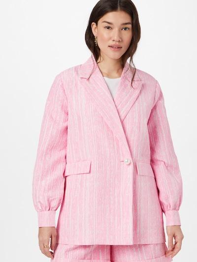 Crās Blazer 'Sisleycras' in pink / weiß, Modelansicht