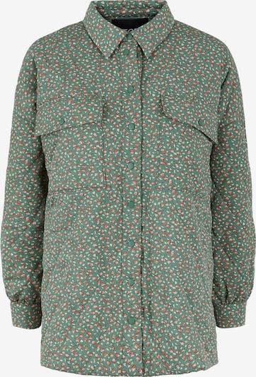 PIECES Jacke in grün / pink, Produktansicht