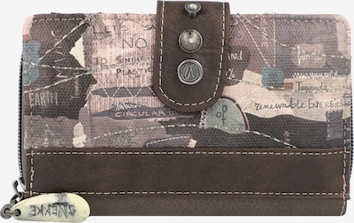 Anekke Portemonnaie in schoko / cappuccino / grau, Produktansicht