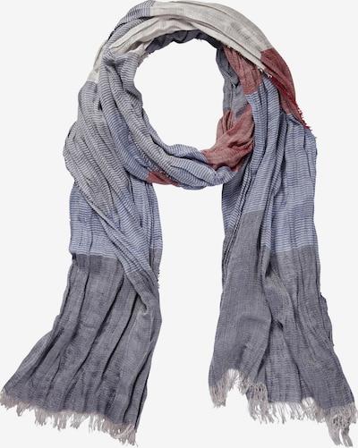 Jan Vanderstorm Schal 'Tjorm' in rauchblau / taubenblau / weinrot, Produktansicht