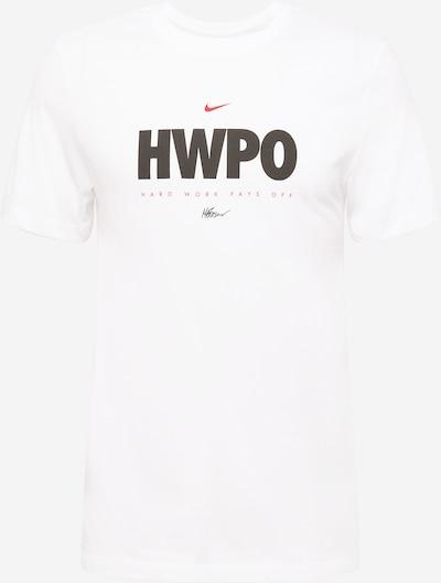 NIKE T-Shirt fonctionnel 'HWPO' en rouge / noir / blanc, Vue avec produit