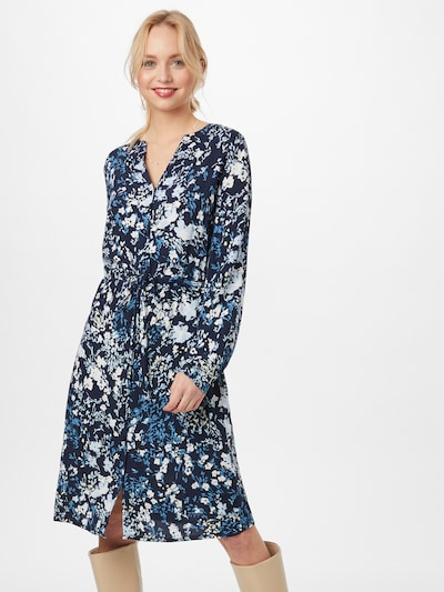 TOM TAILOR Kleid in blau / navy / pastellgelb / weiß, Modelansicht