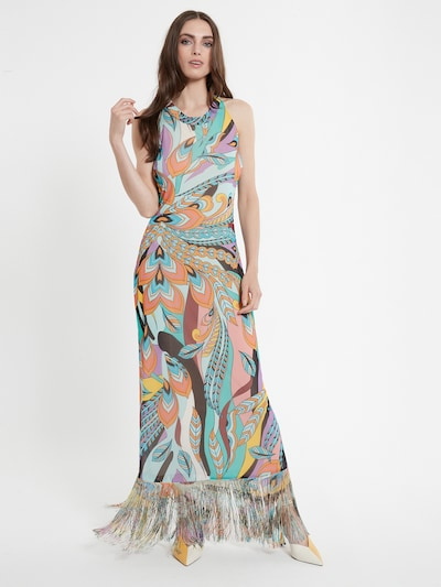 Ana Alcazar Jurk ' Cepas ' in de kleur Gemengde kleuren, Modelweergave