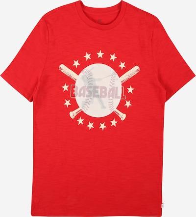 Tricou GAP pe roșu amestecat / alb, Vizualizare produs