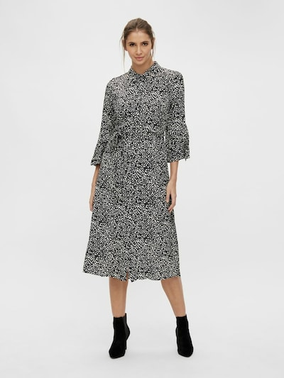 OBJECT Blusenkleid in schwarz / weiß, Modelansicht