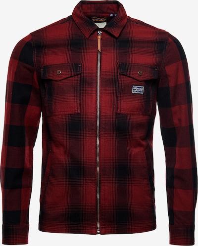Superdry Tussenjas in de kleur Rood / Zwart, Productweergave