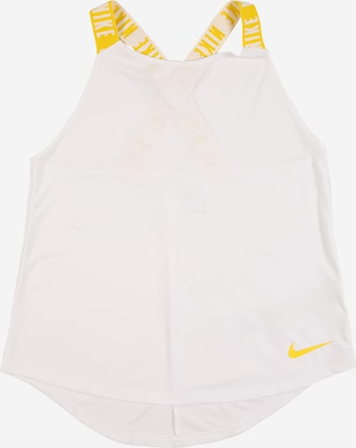 NIKE Sports top 'Elastika' in yellow / white, Item view