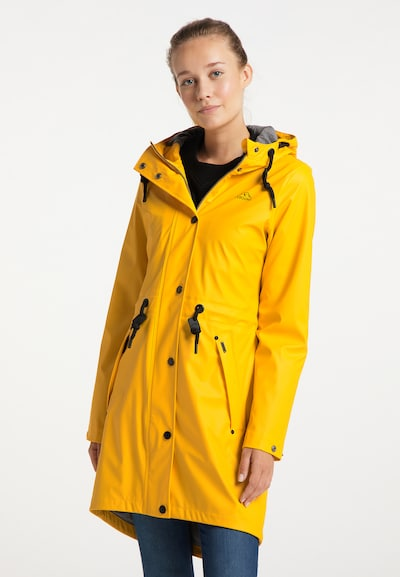 ICEBOUND Mantel in goldgelb, Modelansicht