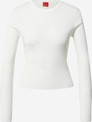 HUGO Pullover in Weiß