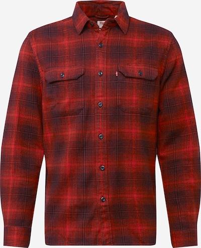 LEVI'S Bayerisk skjorte i rød / sort, Produktvisning