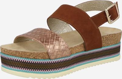 Sandale cu baretă BULLBOXER pe bej / maro, Vizualizare produs